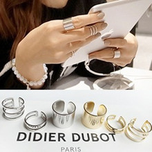 J112 silver ring 3 pcs Shiny Punk Band Midi Mid Finger Knuckle Ring Set high quality