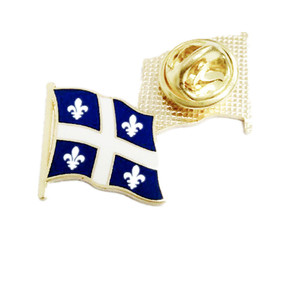 Customized Iron Material Greece Wave Edge Flag Lapel Pin Different Shapes Nation Flag Pattern Lapel Pin