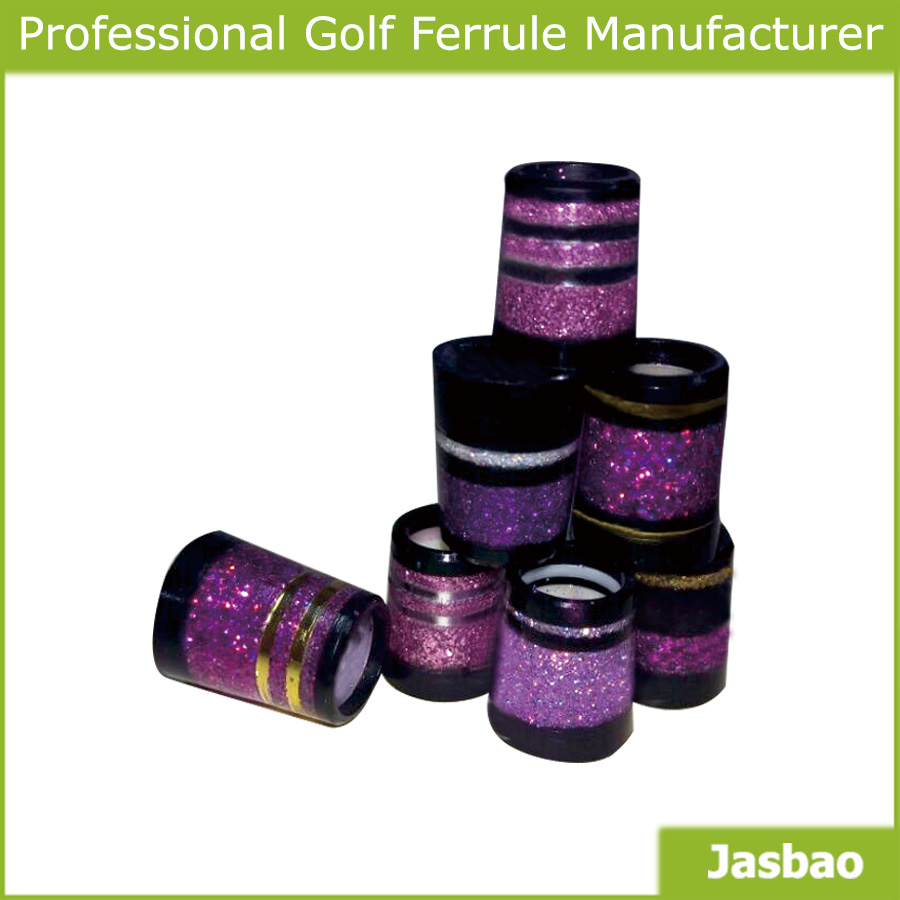 Purple Golf Ferrule Has A Shining Tinsel