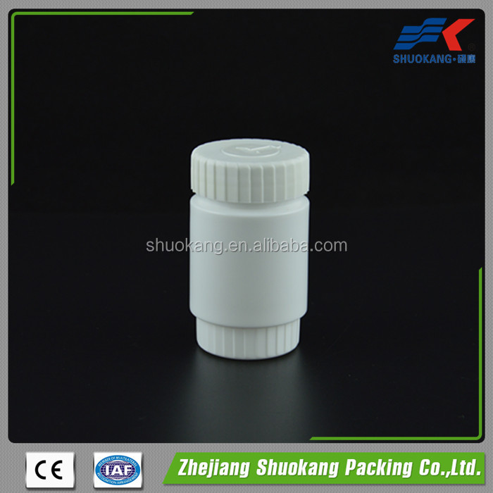100cc white round HDPE plastic pill tablet vitamin label printing bottle,medicine plastic HDPE material bottle