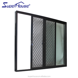New Zealand Standard Aluminium sliding interior sliding entry doors with Stainless steel Security Mesh.