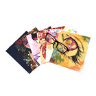 100% Eco-friendly multi color full pattern transfer printing microfiber glasses screen lens cleaning cloth