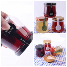200ml round glass penguin fruit jam honey bottle cubilose jar with tin cap