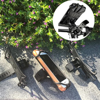 Silicone Adjustable Clip Weather Resistant Bike Mount Motorcycle Mobile Cell Phone Holder For Bicycle