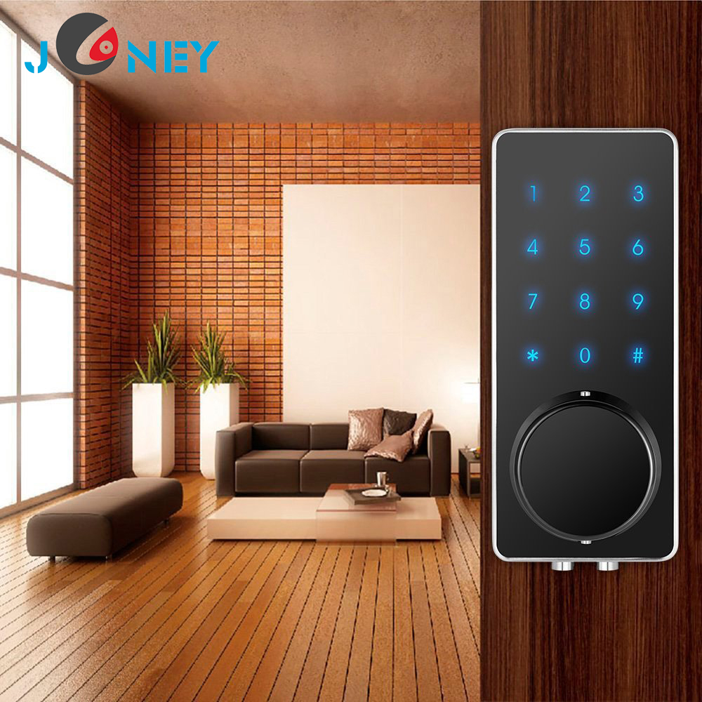 Zinc Alloy touch screen office digital Bluetooth password remote control smart door lock