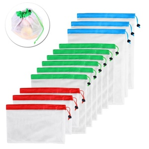Fruit Vegetable Storing Customize Washable Eco Friendly Reusable Nylon Mesh Produce Bag