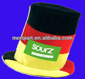 Hot selling sourz party hat germany football hat soccer hat with 3 football