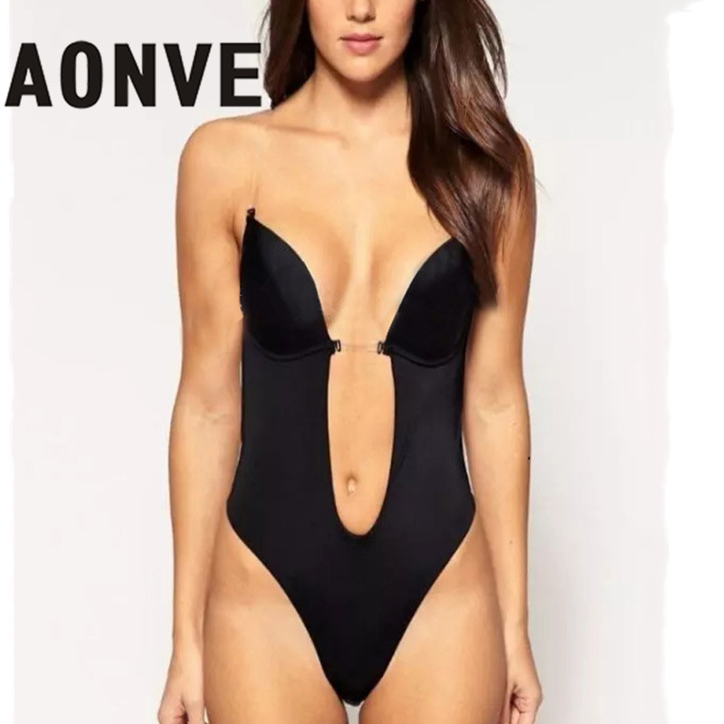 e1de3f490 Detail Feedback Questions about AONVE Bodysuit Vestido Backless ...