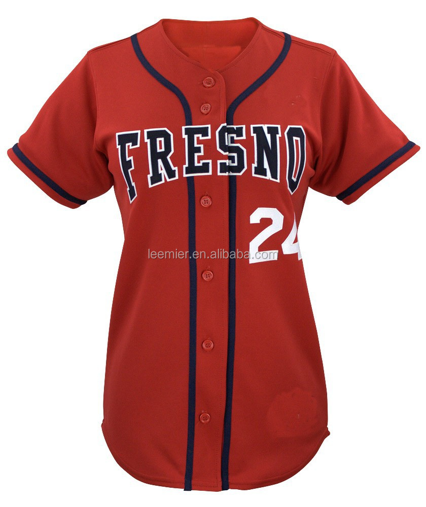 Custom promotionele vrouwen slim fit baseball jersey