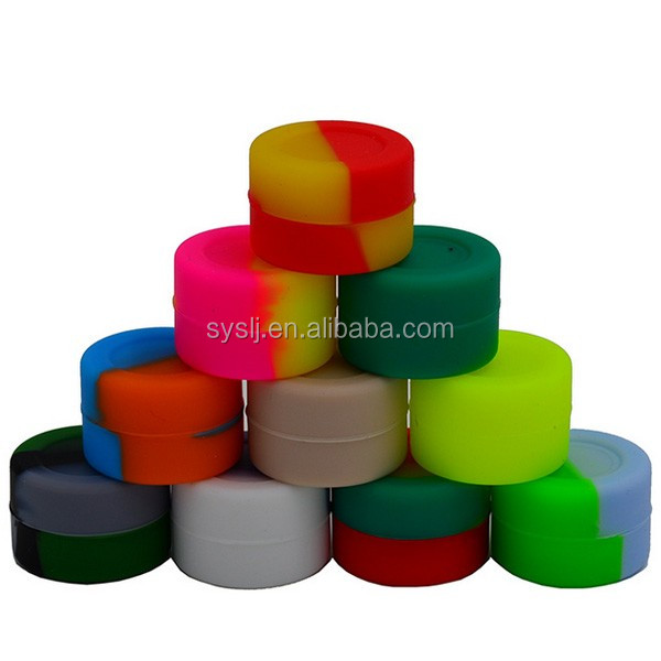 32*18mm 5ml FDA Wholesale Silicone Jars Dab Wax Container Box Silicone Jars Dry Herb Wax Box Storage