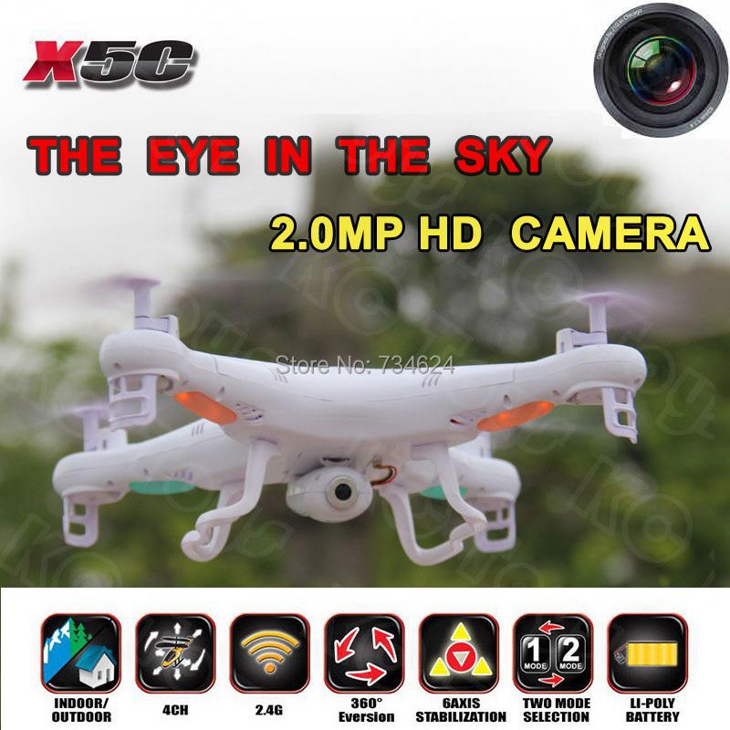 Free Shipping Syma X5C Quadrocopter 2.4G 6 Axis GYRO HD Camera RC Quadcopter