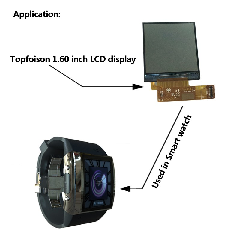[HOT]Alibaba Supplier 1.6inch Transflective 240*240 square lcd watch display touch panel screen outdoor for sport watch