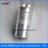 HERO excellent CBB65 250VAC 60uF 50/60Hz AC motor run capacitor for air conditioner