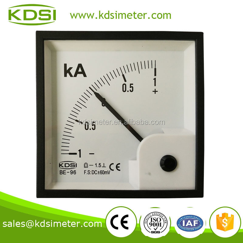High quality professional BE-96 DC+-60mV +-1KA meter zero center scale