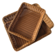 China supplier bread large household durable cheap wholesale pp rattan kitchen storage basket for fruit