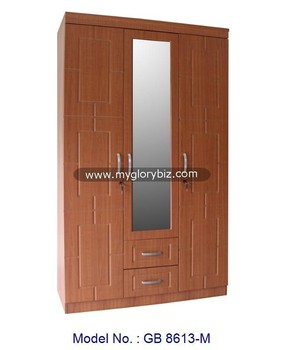 Latest Design Mirrored MDF Wardrobe Antique Wooden Bedroom Furniture For  Home, Simple Wardrobe Designs,