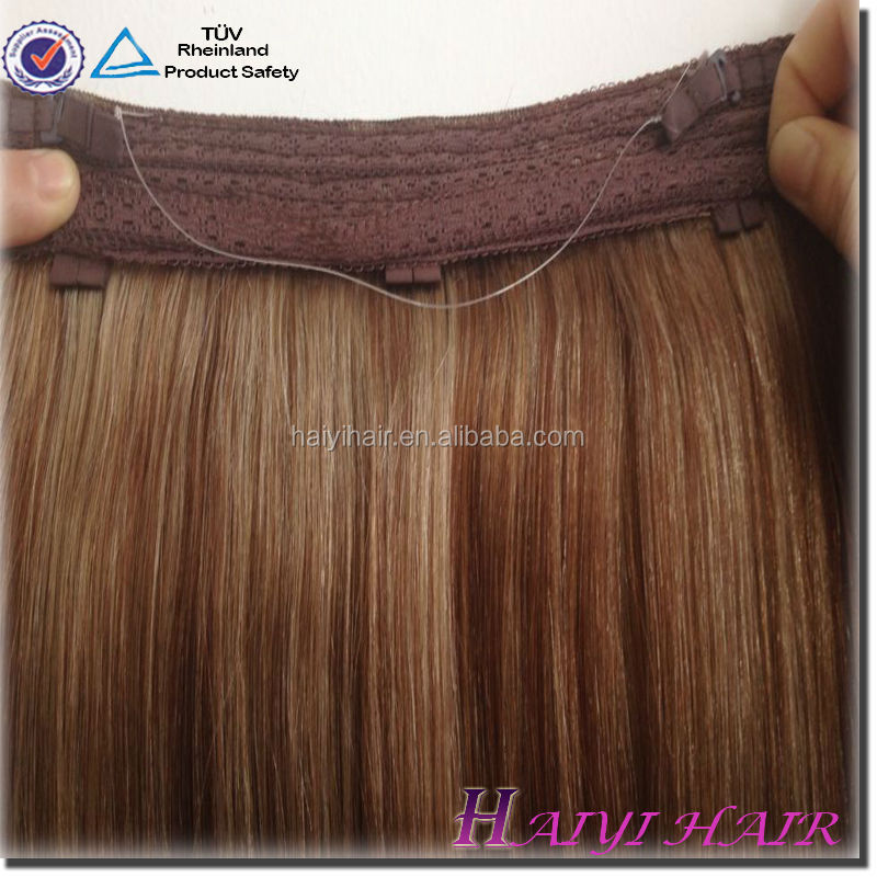 Thick Bottom 120g Remy Double Drawn Indian Hair Fish Wire Hair