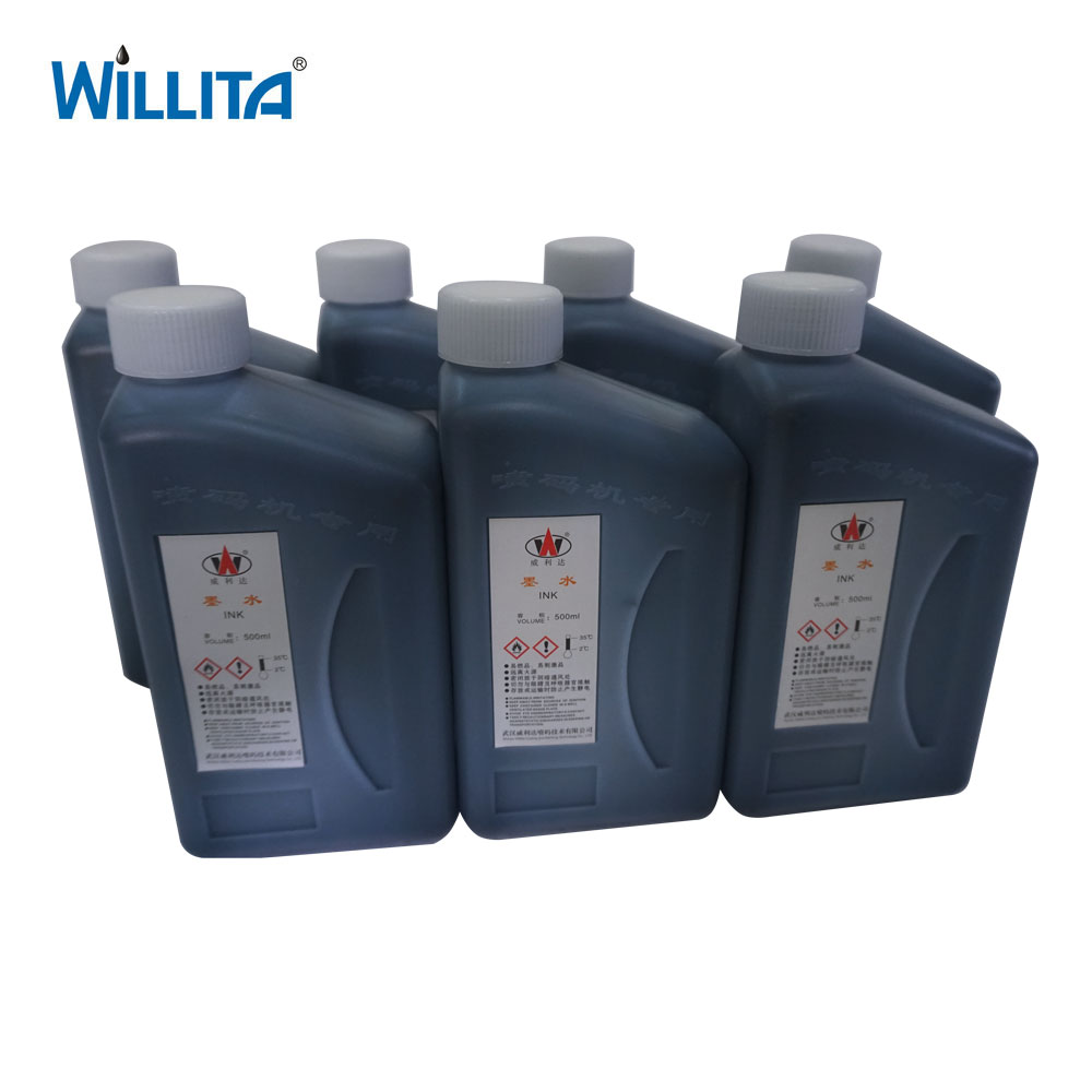 Yellow Blue Color Food Grade Alcohol Based Printing Ink For CIJ Printer