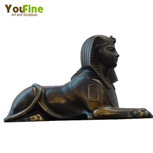 Garden Gate Decor Bronze Antique Sphinx Statue
