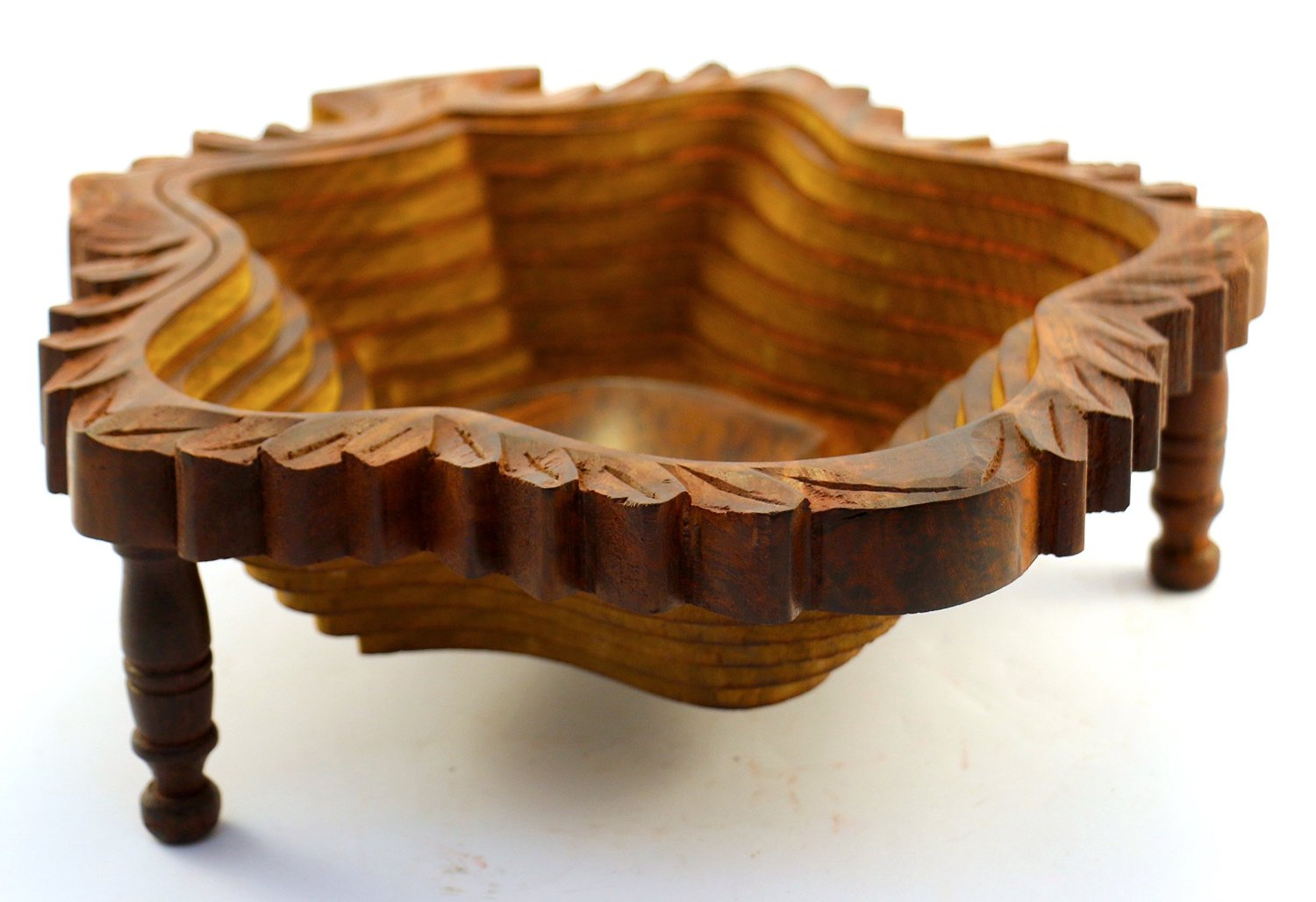 Get quotations · collapsible decorative wooden bowls leaf