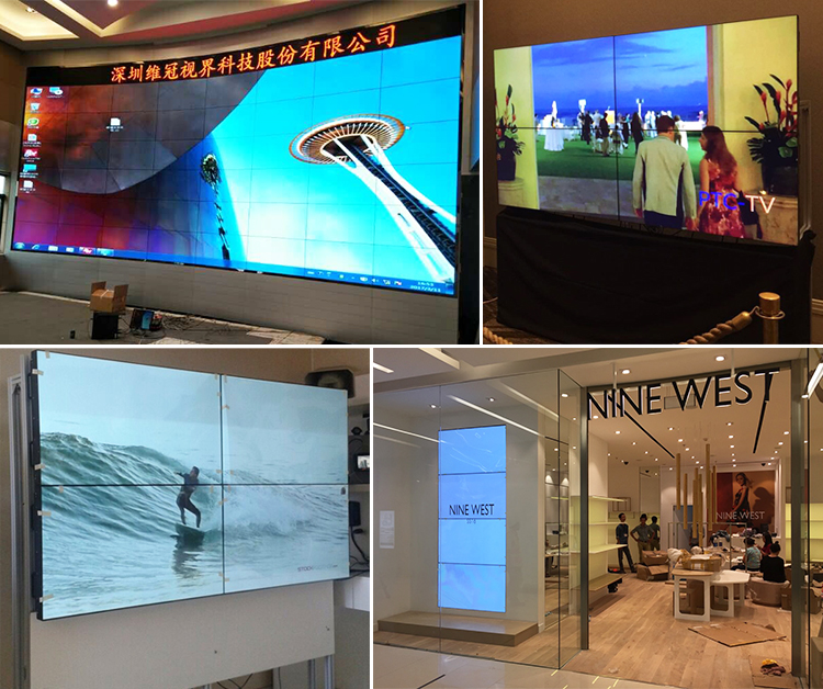 4k touchscreen  projects of lcd video wall