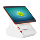 Fanless 14.1 inch capacitive touch all in one android pos terminal machine with printer