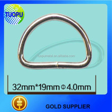High Quality Low Cost Rigging Hardware D Ring, Metal D Ring For Fashion Bag Accessories