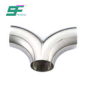 ShengFeng Food Grade ss304 stainless steel Y type tee pipe fitting