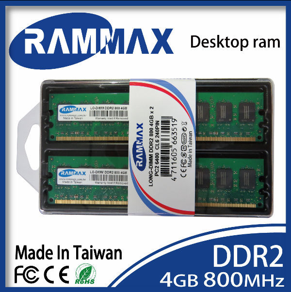 Best & Cheapest Computer part Long DIMM DDR2 800mhz 4GB 1.8v memory RAM 6400 240PIN CL- 5 for all chipset on MB