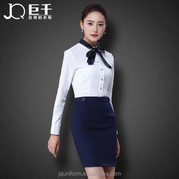 Hot Wholesale Ladies Business Dress Office Wear Uniform Skirt Suit