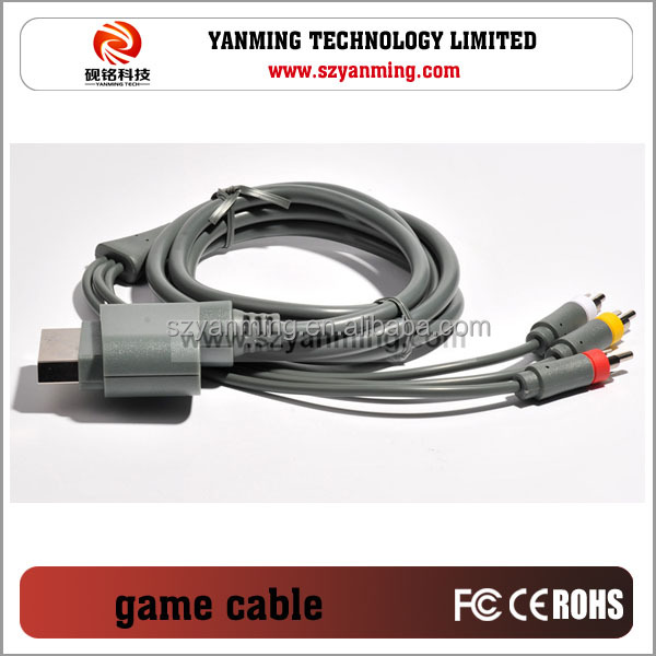 game player XBOX360 to AV cable for monitor hdtv