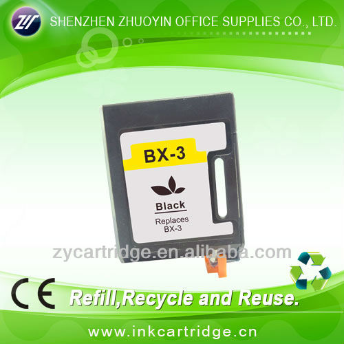 Black Ink cartridge with chip and nozzle for Canon bx-3