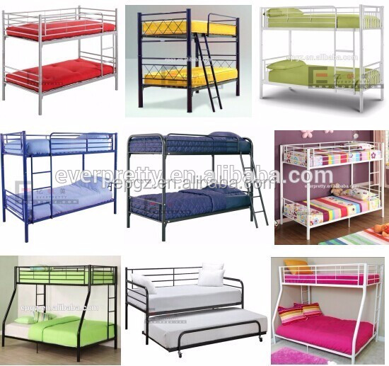 Epoxy powder coated adult metal frame bunk beds cheap iron Really cheap beds
