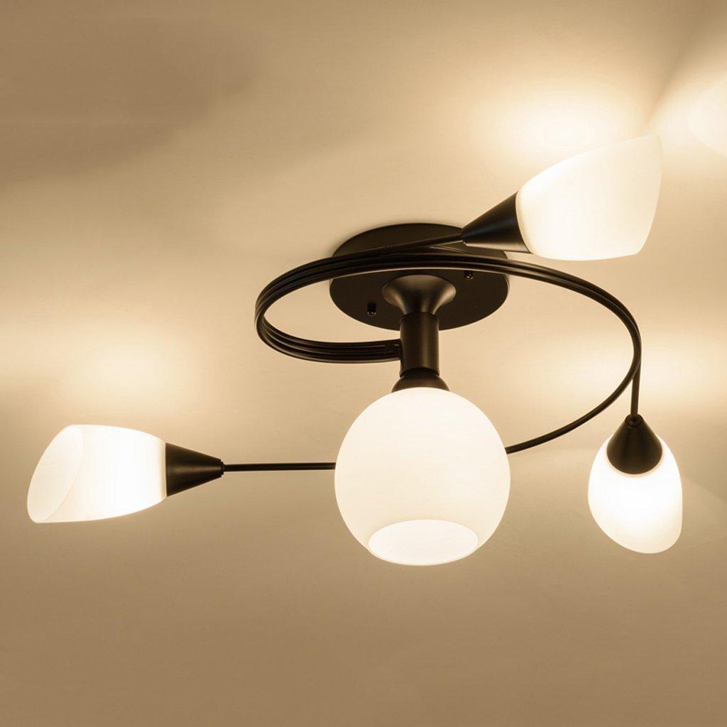 Fu Man Li Trading Company Modern simple ceiling lamp creative bedroom LED restaurant study children room lighting A+ ( Color : White light , Size : 6 head )