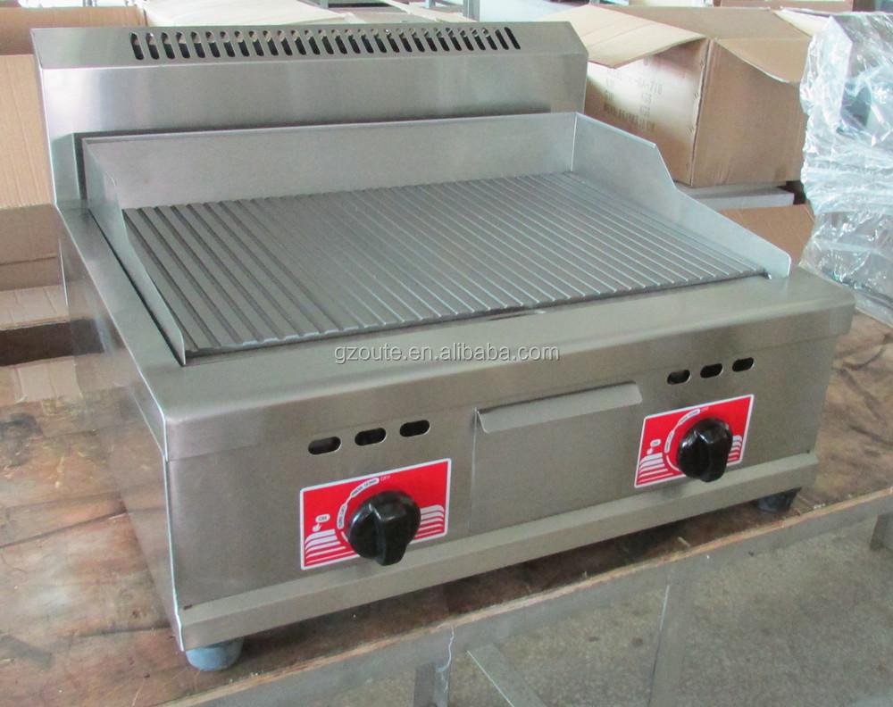 china equipos de cocina industrial plancha barbacoa parrillas de gas de hierro fundido caliente
