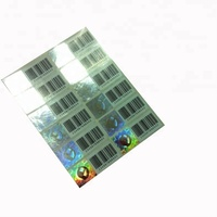 Bar Code / QR code security hologram adhesive label sticker