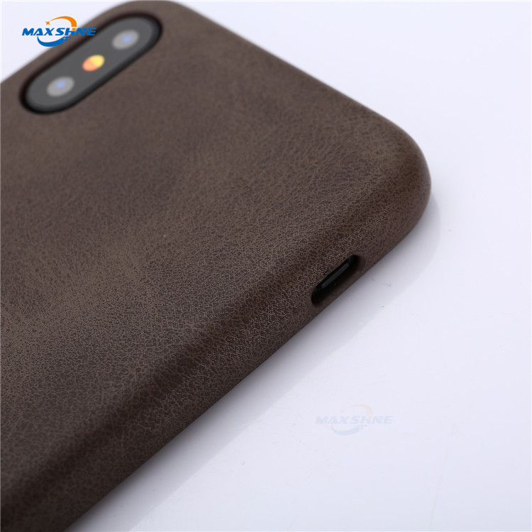 Maxshine Funky Pu Leather Shockproof Hybrid Mobile Phone Case For Iphone X Xr Xs Max