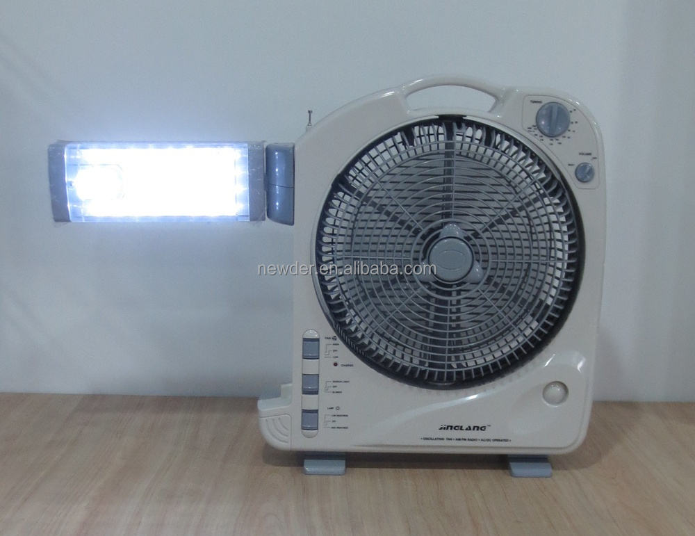 12 Quot Rechargeable Battery Operated Fan With Light Model 292bl Buy Rechargeable