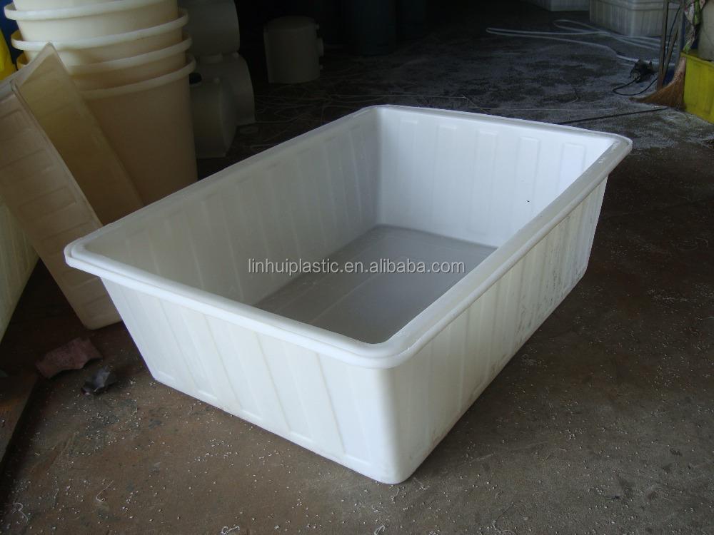 neue produkte 200 liter 300 liter schwere rechteckigen kunststoff fisch badewanne mit ablauf. Black Bedroom Furniture Sets. Home Design Ideas