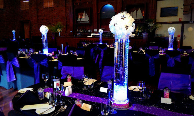 columnas para la decoracin de la boda de cristal wedding espejo redondo led de la batera