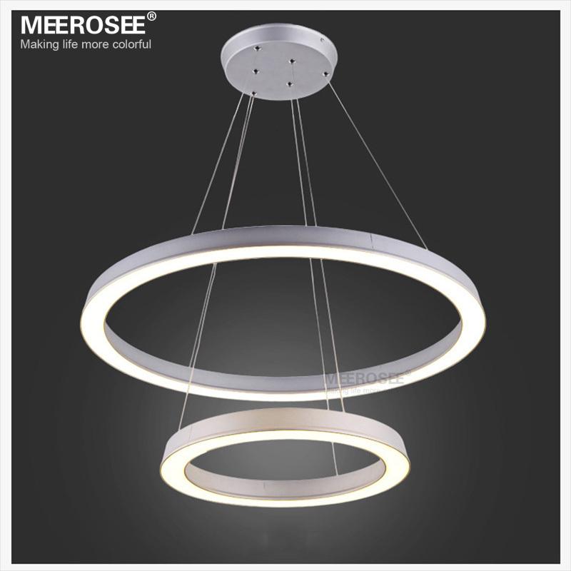 pendelleuchte led ring 2 ring dimmbar led kristall deckenleuchte h ngelampe pendant lights. Black Bedroom Furniture Sets. Home Design Ideas
