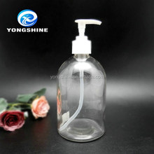 Hot sell 500ml liquid soap foam dispenser glass bottle with plastic pump dropper cap wholesale