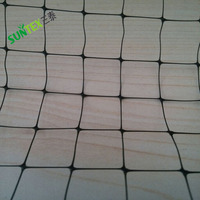 Brand new square mesh size material PP plastic knotted black anti bird net/reusable wire mesh vineyard fence netting with UV