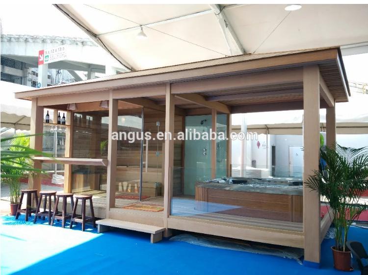 Accessori Per Gazebo In Legno.Legno Di Cedro Rosso Gazebo Per Outdoor Spa Sauna Con Doccia E Sauna