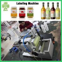 semi automatic name label sticker vial labeling machine