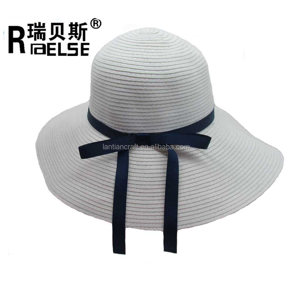 33d544e5f43d3 Ladies Floppy Sun Hat With Wide Brim And Bow Tie Beach Hat - Buy ...