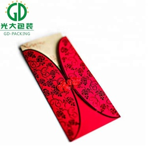 2018 latest design Chinese new year red packets with Kraft paper