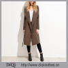 2017 New arrival Chic Factory Price custom Ladies Brown Faux Suede Layered Wrap Coat
