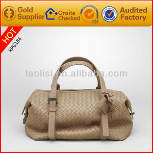 New design special woven leather mature women handbags ladies leather handbag