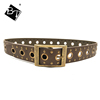 2018 new model fashion green Heavy Metal PU cowboy metal belt